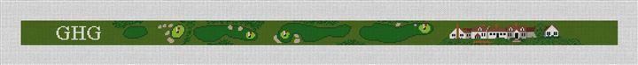 Eastward Ho! Golf Course Needlepoint Belt Canvas