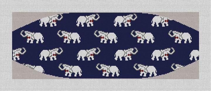 Elephant Cummerbund Needlepoint Canvas
