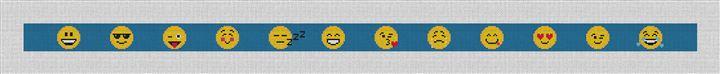 Emojis Needlepoint Belt Canvas