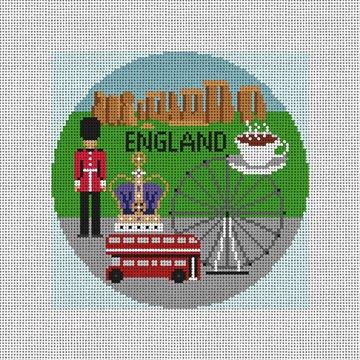 England Needlepoint Ornament Canvas