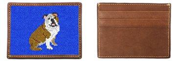 English Bulldog Needlepoint Card Wallet