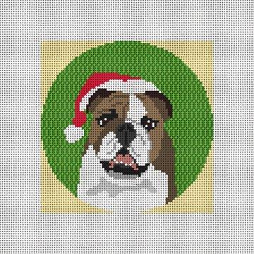 English Bulldog Needlepoint Ornament Canvas