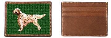 English Setter Needlepoint Card Wallet