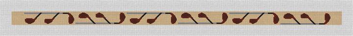 Fairway Woods Needlepoint Belt Canvas