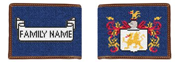 Family Crest Needlepoint Wallet
