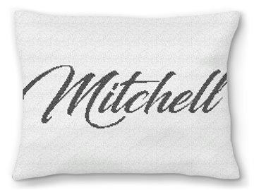 Family Name Needlepoint Pillow
