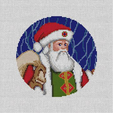 Father Christmas Needlepoint Ornament Canvas