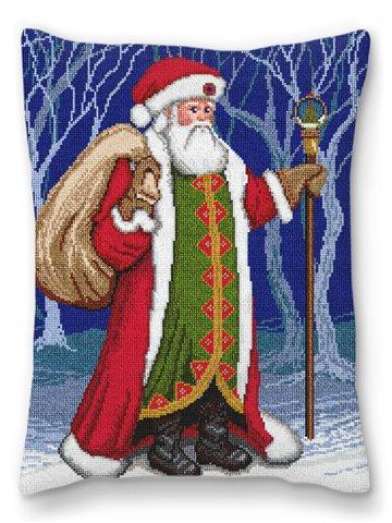 Father Christmas Needlepoint Pillow