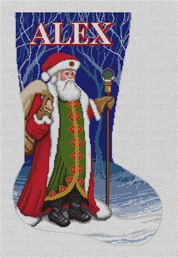 Father Christmas Needlepoint Stocking Canvas