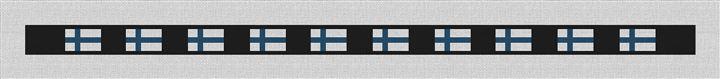 Finland Flag Needlepoint Belt Canvas