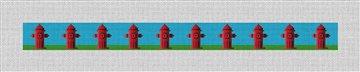 Fire Hydrant Dog Collar Needlepoint Kit