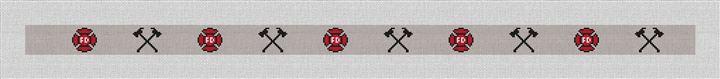 Firefighters Needlepoint Belt Canvas