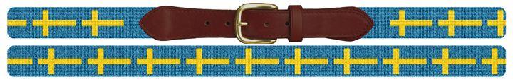 Flag of Sweden Needlepoint Belt