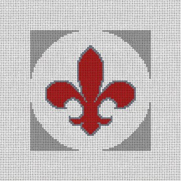 Fleur De Lis Needlepoint Ornament Canvas