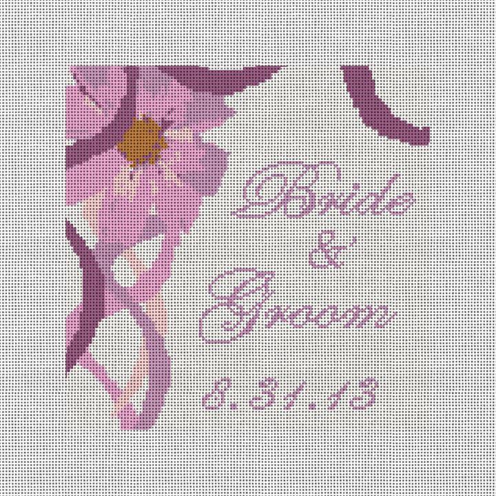 Florance Needlepoint Ring Bearer Pillow Canvas