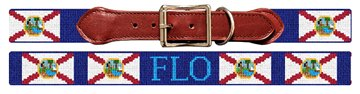 Florida Flag Needlepoint Dog Collar