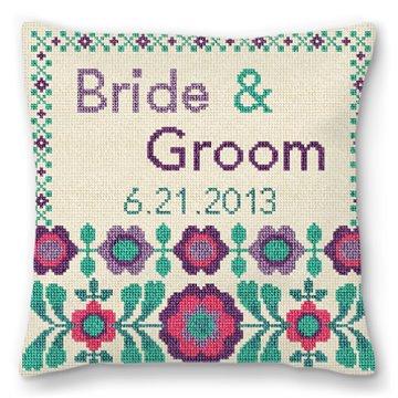 FlowerPop Custom Wedding Ring Bearer Pillow