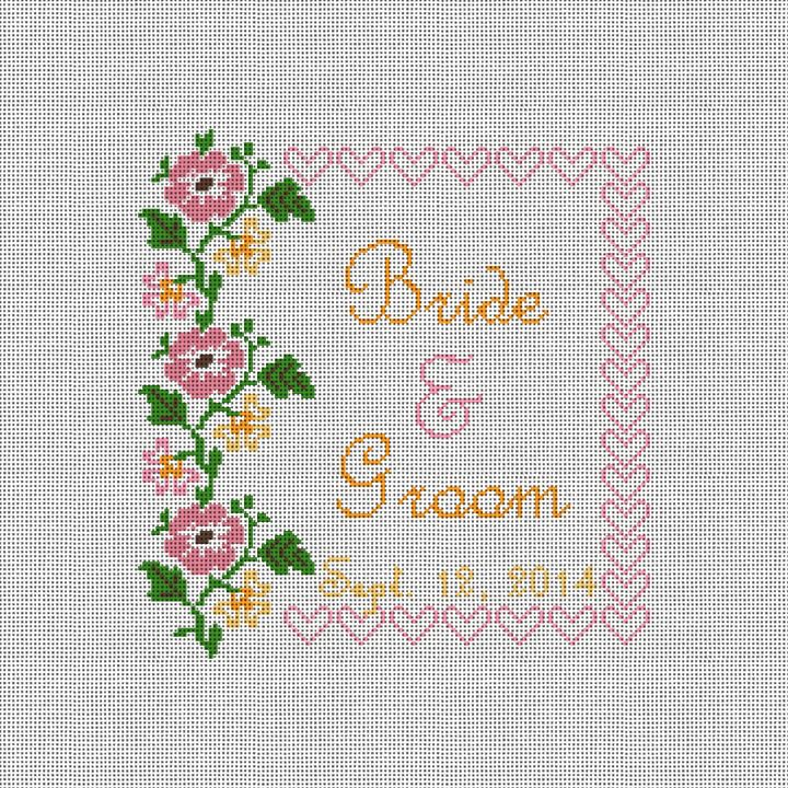 Flowers and Hearts Ring Bearer Canvas