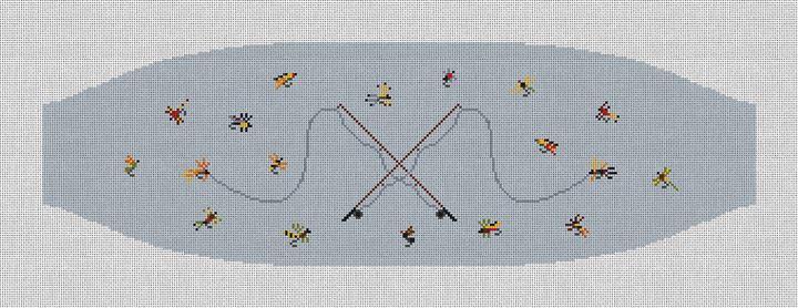 Fly Fishing Needlepoint Cummerbund Canvas