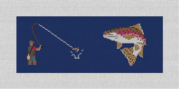 Fly Fishing Needlepoint Wallet Canvas