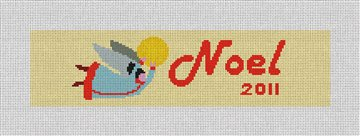 Flying Angle Ornament Needlepoint Canvas