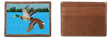 Flying Mallards Needlepoint Card Wallet