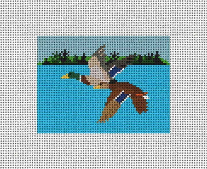 Flying Mallards Needlepoint Card Wallet Canvas