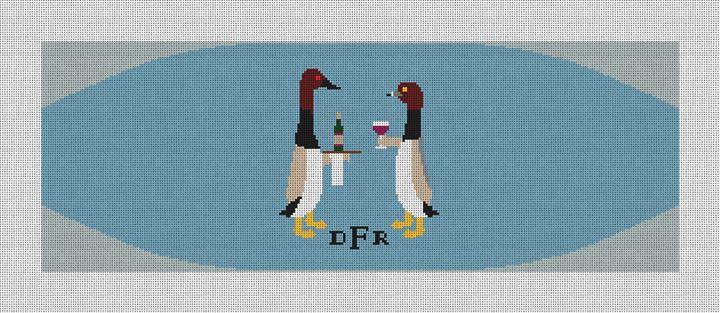 Formal Ducks Cummerbund Needlepoint Canvas