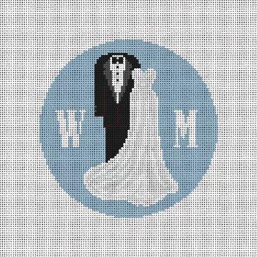 Formal Wedding Attire Needlepoint Ornament Canvas