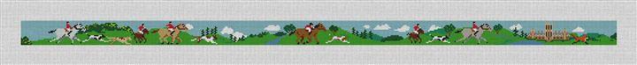 Fox Hunting Needlepoint Belt Canvas