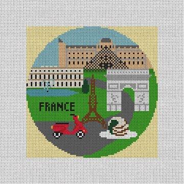 France Needlepoint Ornament Canvas