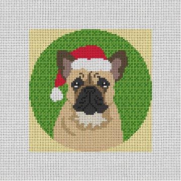 French Bulldog Needlepoint Ornament Canvas