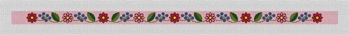 Fresh Floral Needlepoint Belt Canvas