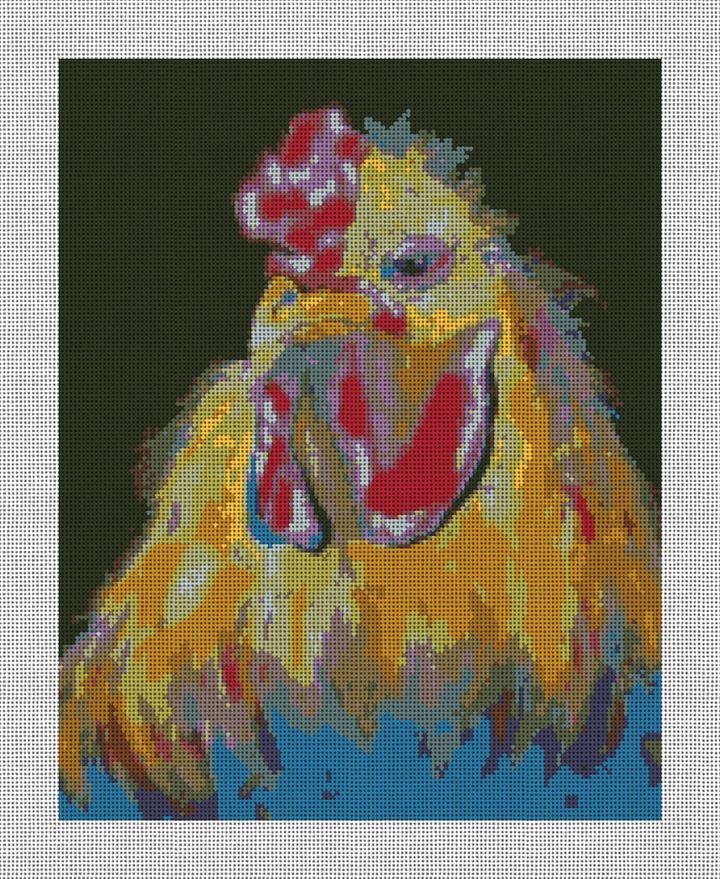 Fried Chicken Needlepoint Canvas