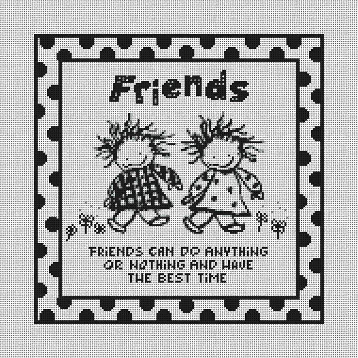 Friends Needlepoint Canvas