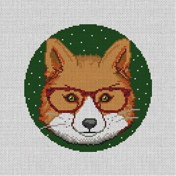 Gentleman Fox Needlepoint Ornament Canvas