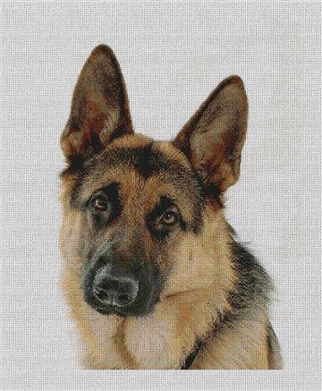 German Shepherd Needlepoint Canvas