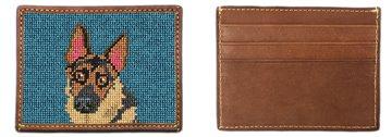 German Shepherd Portrait Needlepoint Card Wallet