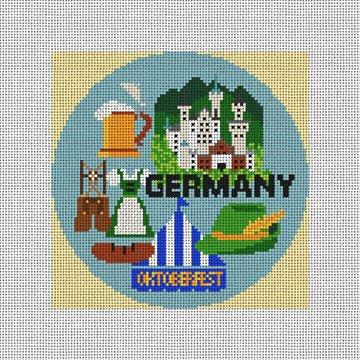 Germany Needlepoint Ornament Canvas