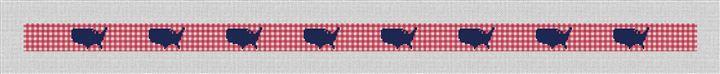Gingham America Needlepoint Belt Canvas