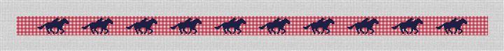 Gingham Derby Needlepoint Belt Canvas