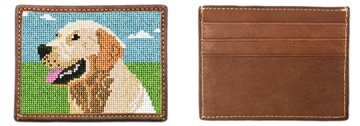Golden Retriever Portrait Needlepoint Card Wallet