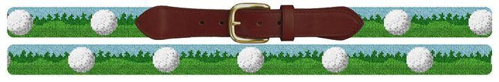 Golf Ball Needlepoint Belt