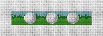 Golf Ball Needlepoint Key Fob Canvas