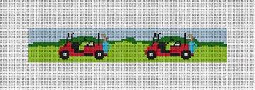 Golf Cart Needlepoint Key Fob Canvas