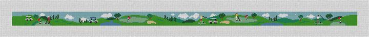 Golf Day Needlepoint Belt Canvas
