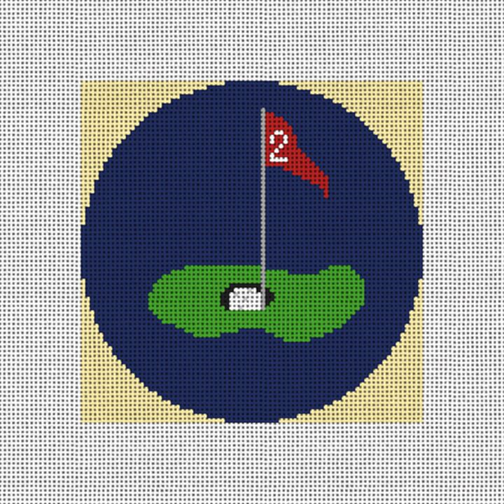 Golf Green Needlepoint Ornament Canvas