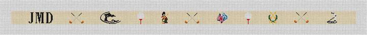 Golf Needlepoint Belt Canvas