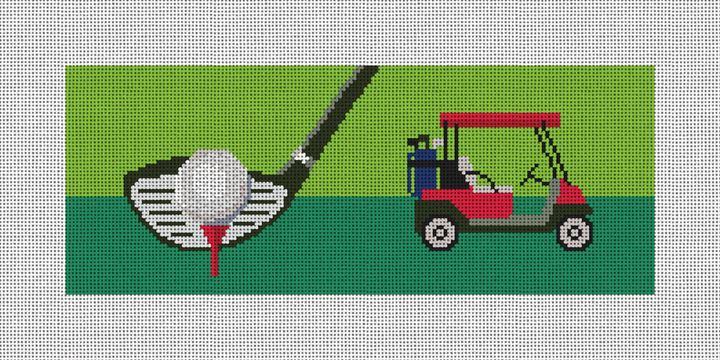 Golf Needlepoint Wallet Canvas