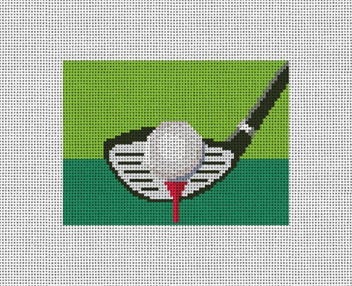 Golfers Needlepoint Card Wallet Canvas